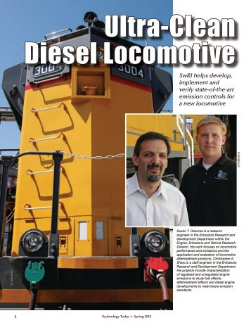 Ultra-Clean Diesel Locomotive - Southwest Research Institute