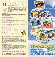 SommerspaSS · Ferienprogramm 2010 - Kommunale Jugendarbeit ...
