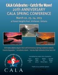 Brochure & Presenters - Canadian Aquafitness Leaders Alliance Inc.