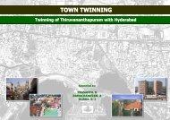 TOWN TWINNING Twinning of Thiruvananthapuram with Hyderabad