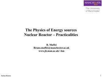 Lecture 7 - Nuclear reactors