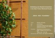 Einladung zum Bauherrenseminar in der Natur Farben Werkstatt ...