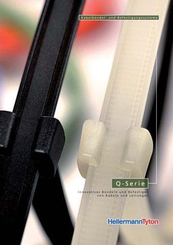 Kabelbinder - Q-Serie Broschüre Hellermanntyton 2010