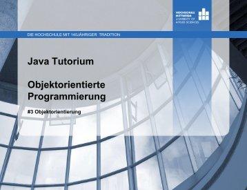 5 Objektorientierung - Hochschule Mittweida