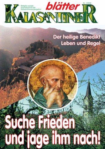 Der heilige Benedikt Leben und Regel