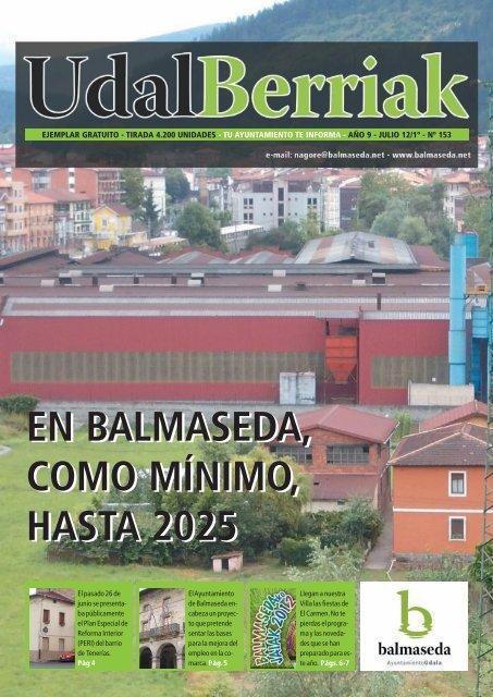 Udalberriak 153 Castellano.pdf - Ayuntamiento de Balmaseda