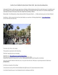 Corliss Travel: Robbed in Barcelona? What I did + tip to beat the pickpockets