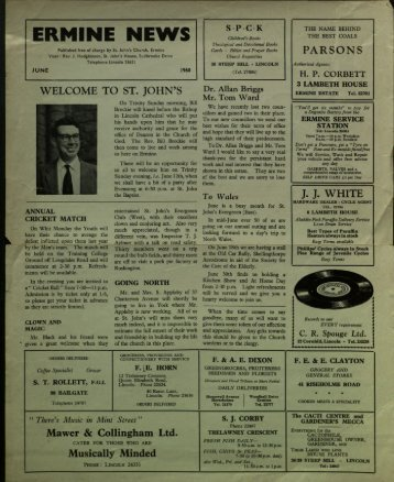 Ermine News June 1960 - St. John the Baptist Parish Church ...