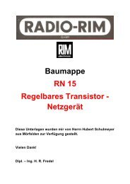 Baumappe Netzgerät RN - 15 - Rainers - Elektronikpage