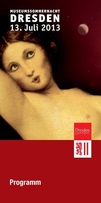 Museumssommernacht Dresden 2013 - Staatliche ...