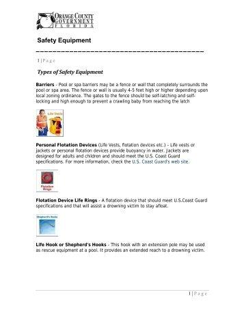 Safety Equipment - Home | Orange County Gov FL