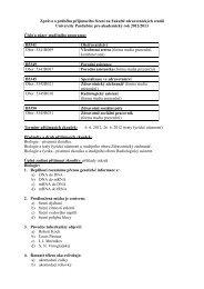 Zpráva o průběhu přijímacího řízení na Ústav zdravotnických studií
