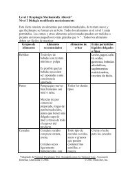 Level 2 Dysphagia Mechanically Altered* Nivel 2 ... - Dysphagia-Diet