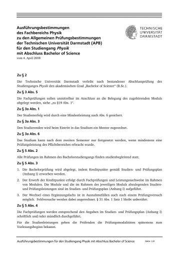 ab WS 2008 - Fachbereich Physik - Technische Universität Darmstadt
