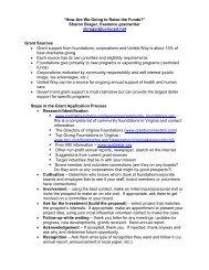 Fundraising Strategies for Dental Safety Net Clinics - Virginia Health ...