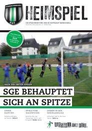 SGE BEhauptEt Sich an SpitzE - SG Eintracht Mendig/Bell