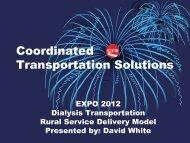 Dialysis Transportation Rural Service Delivery Model