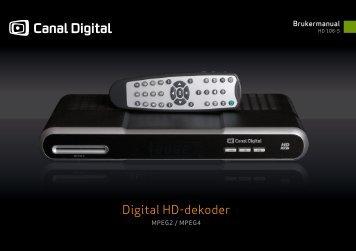 Digital HD-dekoder - Canal Digital Parabol