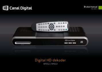 Digital HD-dekoder - Canal Digital Parabol