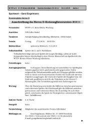 Das Rundschreiben Nr. 3 der Saison 2010/2011 - beim ...