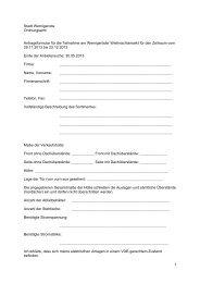 1 Stadt Wernigerode Ordnungsamt Antragsformular für die ...