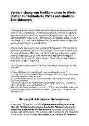 Verabreichung von Medikamenten in Werk - Institut für Pflegerecht ...