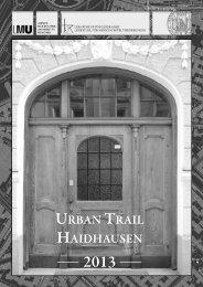 urban trail haidhausen - Department für Geographie - LMU München