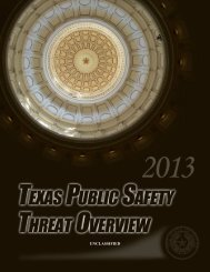 UNCLASSIFIED - Texas Department of Public Safety