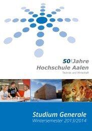 Studium Generale (PDF) - Hochschule Aalen