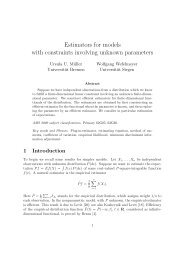 Estimators for models with constraints involving unknown parameters