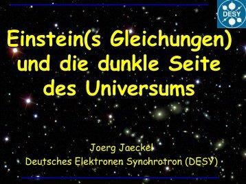 Einstein(s Gleichungen) und die dunkle Seite des ... - Schul-Physik