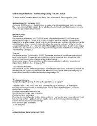 Læs referatet - Dansk Ortopædisk Selskab