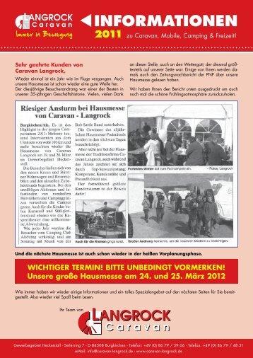 INFORMATIONEN - Caravan Langrock