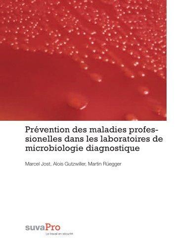 sionelles dans les laboratoires de microbiologie diagnostique - Suva