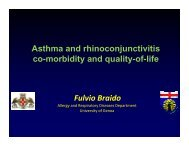 Asthma and rhinoconjunctivitis co-morbidity and quality-of-life Fulvio ...