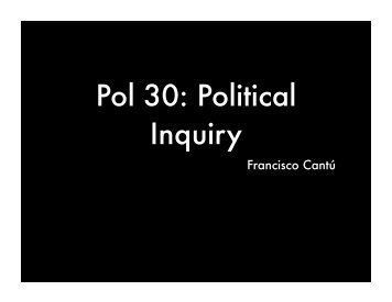 Pol 30: Political Inquiry