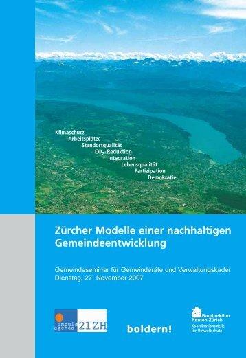 Zürcher Modelle einer nachhaltigen ... - Kanton Zürich