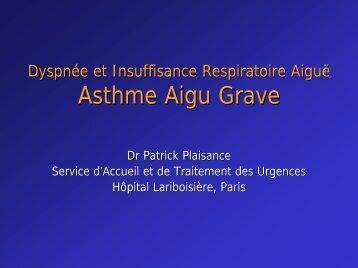 Asthme aigu grave - JLAR