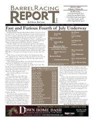 7/2 - Barrel Racing Report