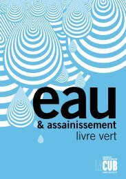 livre vert - Participation de la CUB et de ses communes - Cub