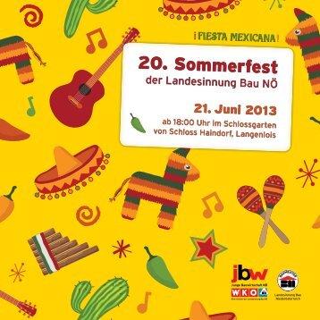 Einladung Sommerfest - Landesinnung Bau