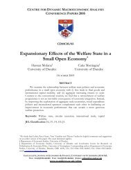 Expansionary Effects of the Welfare State in a Small ... - ResearchGate