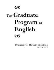 Graduate Manual 2012-13 - Department of English - University of ...