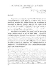 A PARCERIA NAS RELAÇÕES DE TRABALHO: PROBLEMAS E ...