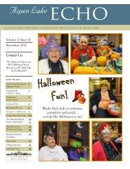 Contact Us: November 2012 Volume 3, Issue 10 ... - Schlegel Villages