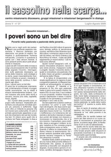 Luglio - Centro Missionario Diocesano di Bergamo