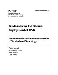 Guidelines for the Secure Deployment of IPv6