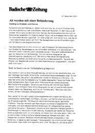 Weitere Pressemeldungen - Caritasverband Freiburg