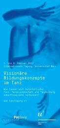 Flyer Tanztagung - Universität Bern