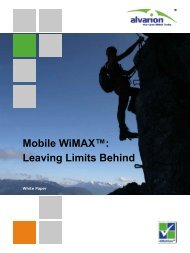 Mobile WiMAX™: Leaving Limits Behind - Winncom Technologies